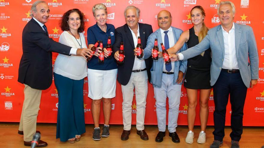 Acto de presentación del Estrella Damm Mediterranean Ladies Open.