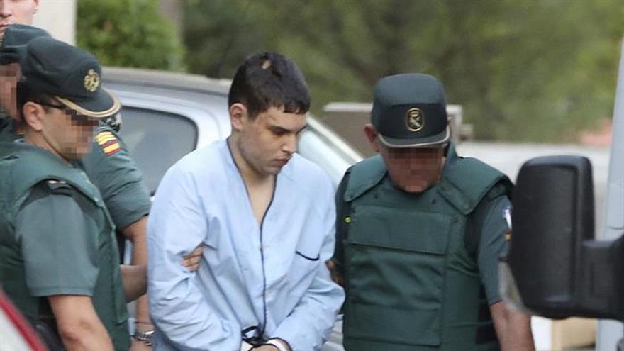 El yihadista herido ha sido llevado en vehículo convencional a la Audiencia