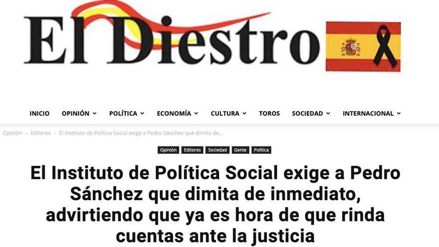 """Contenido de 'El Diestro' que pide Europa """"cese"""" al Gobierno de España."""