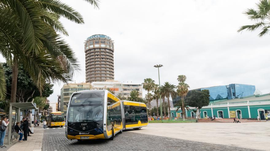 Primer vehículo 100% eléctrico de Guaguas Municipales de Las Palmas de Gran Canaria.