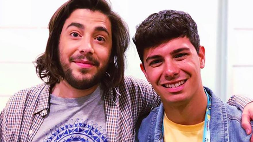 El encuentro de Alfred y Salvador Sobral horas antes de la final de Eurovisión