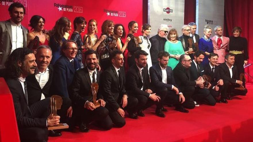 Foto de familia de los Premios Fotogramas 2016