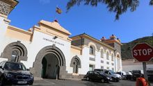Entrada al CIE de Barranco Seco, en Las Palmas de Gran Canaria.