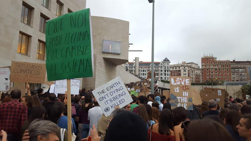 Manifestación clima Bilbao