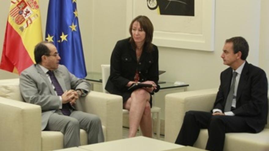 Zapatero Se Reúne En La Moncloa Con El Rebelde Libio, Mahmud Jibril