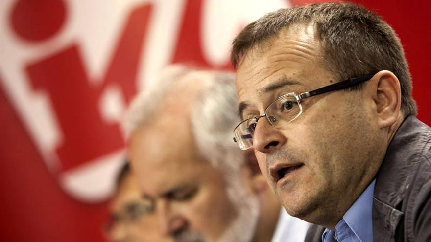 Presentación oficial del candidato de Izquierda Unida Canaria a presidente de la comunidad autónoma, Ramón Trujillo. EFE/Ángel Medina G.