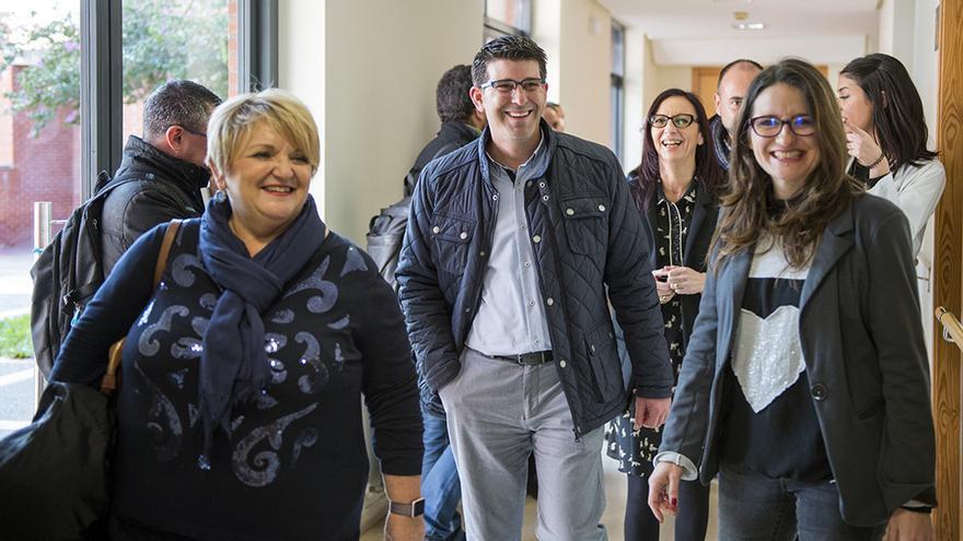 Mónica Oltra y Jorge Rodríguez, junto a Mercedes Berenguer y Maria Josep Amigó, visitan el antiguo psiquiátrico de Bétera