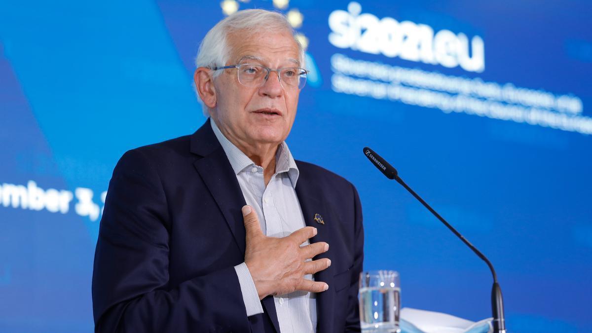 Josep Borrell, Alto Representante de la Unión para Asuntos Exteriores y Política de Seguridad, el 3 de septiembre de 2021 en Brdo (Eslovenia)