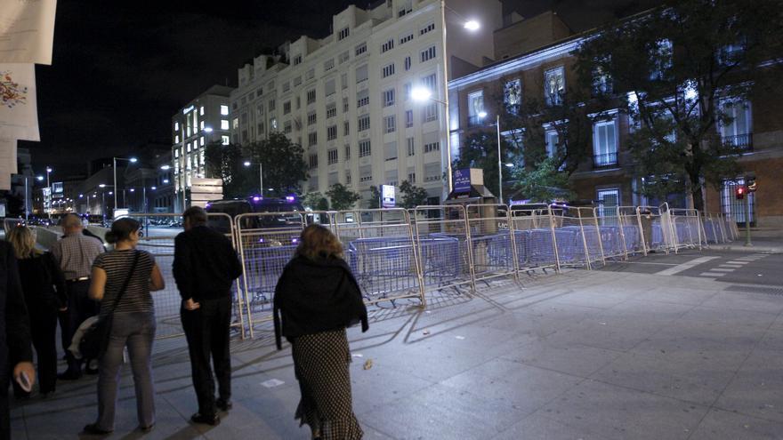El Congreso amanece blindado por la Policía por la protesta del 25S
