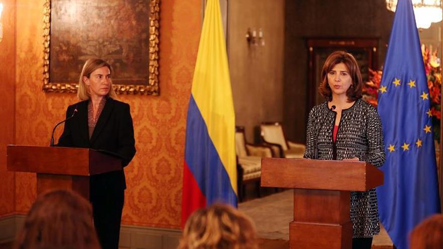 """Mogherini asegura a Colombia que la UE estará """"a su lado"""" en el posconflicto"""