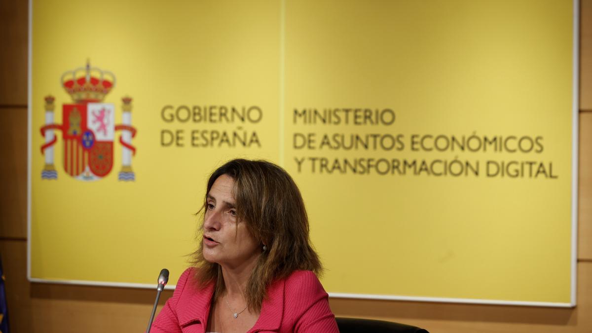 La ministra para la Transición Ecológica, Teresa Ribera. EFE/Emilio Naranjo/Archivo