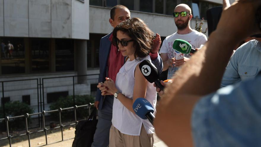 María Mateo Feito en el juzgado de Plaza Castilla