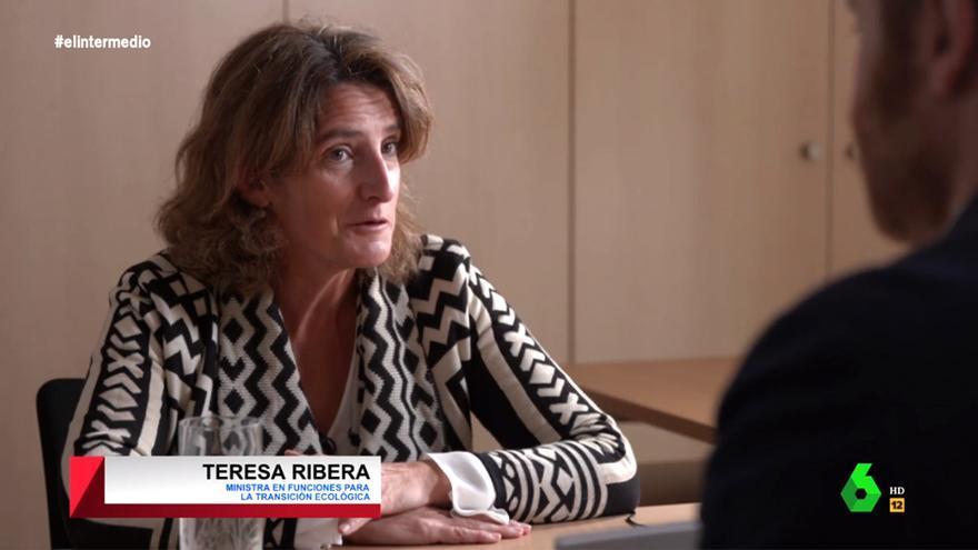 La ministra Teresa Ribera, en 'El Intermedio' con Burque
