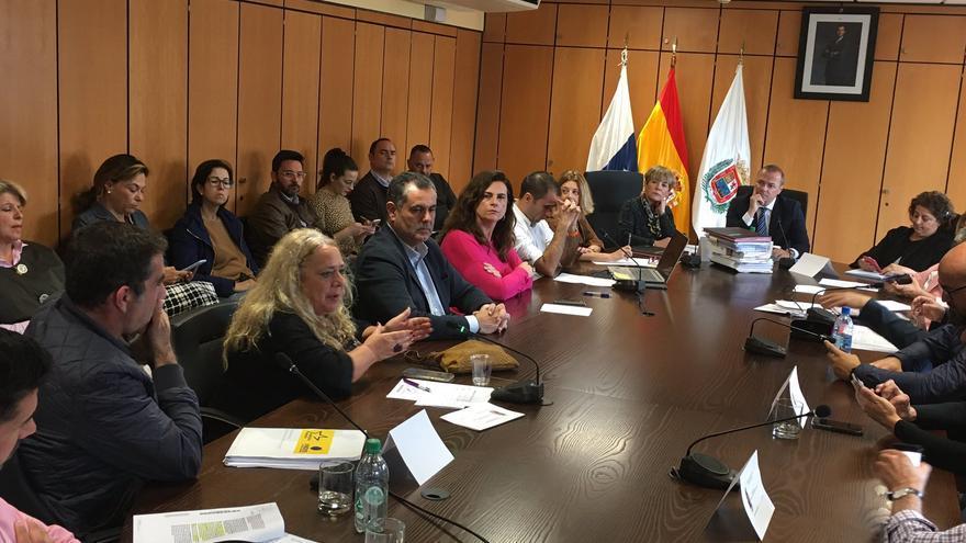 Pleno Extraordinario del Ayuntamiento de Las Palmas de Gran Canaria.