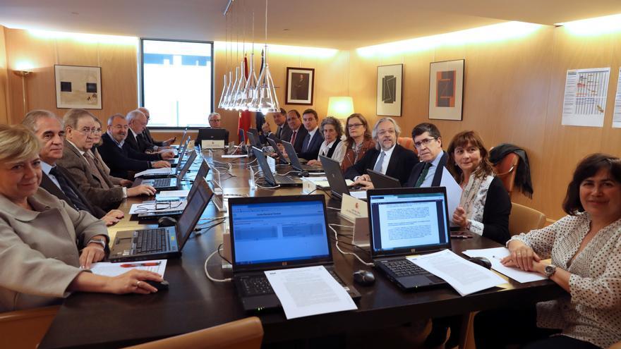 Vista general de la reunión de la Junta Electoral Central en el Congreso el pasado 11 de marzo