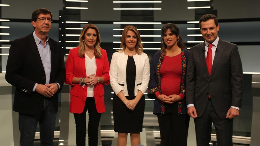 El debate a cuatro en RTVE sumó 395.000 espectadores y un 12,3% de cuota de pantalla, menos que el de Canal Sur TV