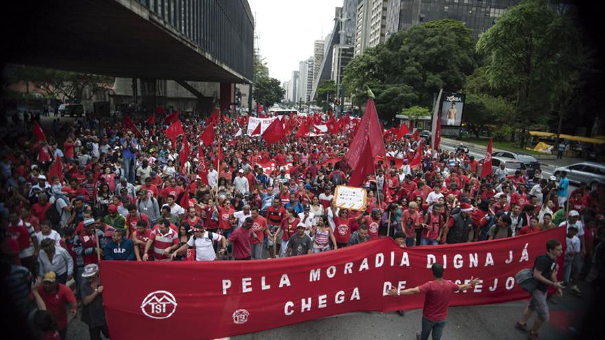 Manifestación en São Paulo para pedir vivienda digna, en 2013. FOTO: 3.0 Brasil