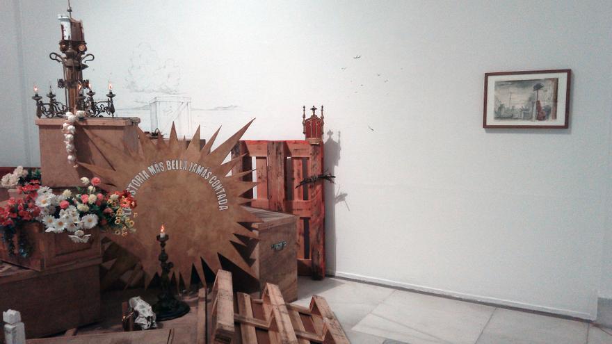 Imagen general de 'Ensayo para una gran obra', la exposición que puede verse en el Palacete del Embarcadero.