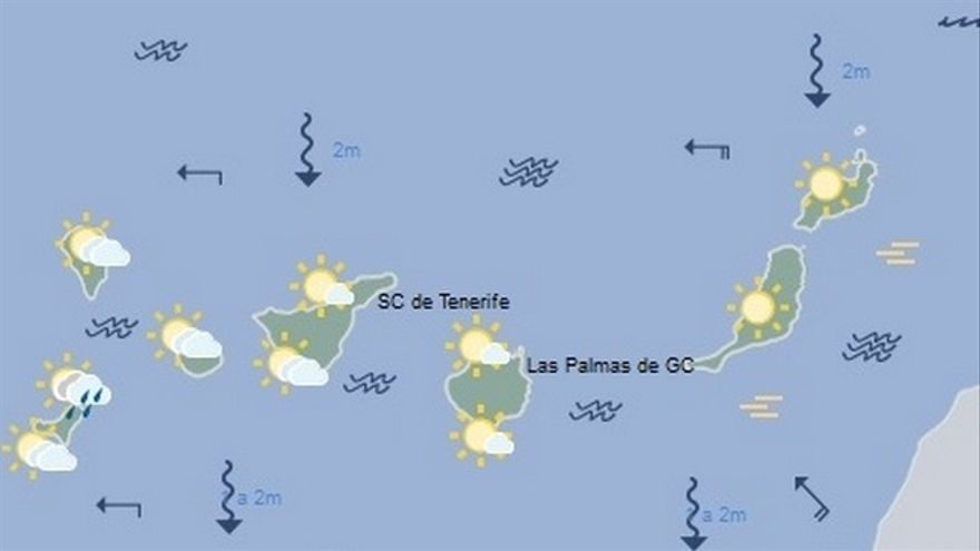 El tiempo en Canarias para este jueves, 12 de enero de 2017