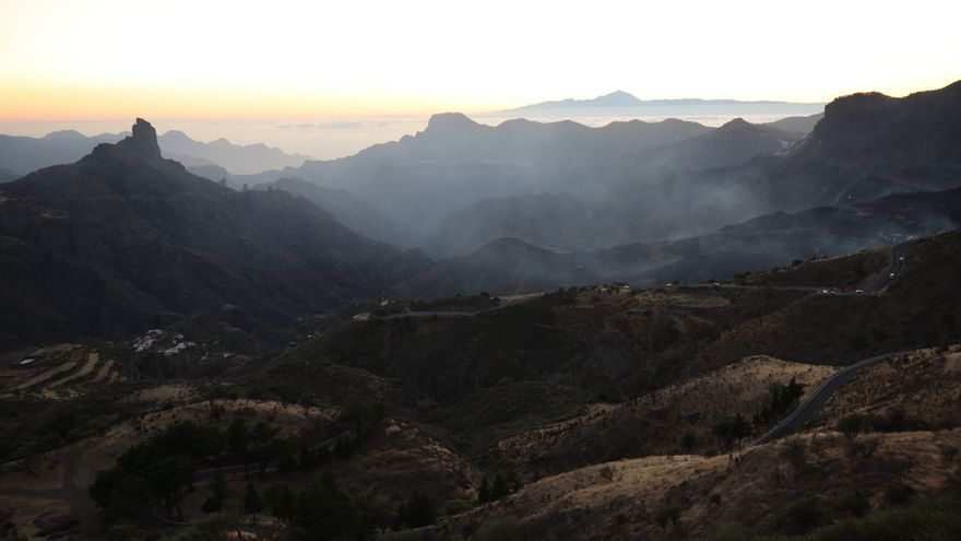 La cumbre de Gran Canaria después del incendio del 10 de agosto.