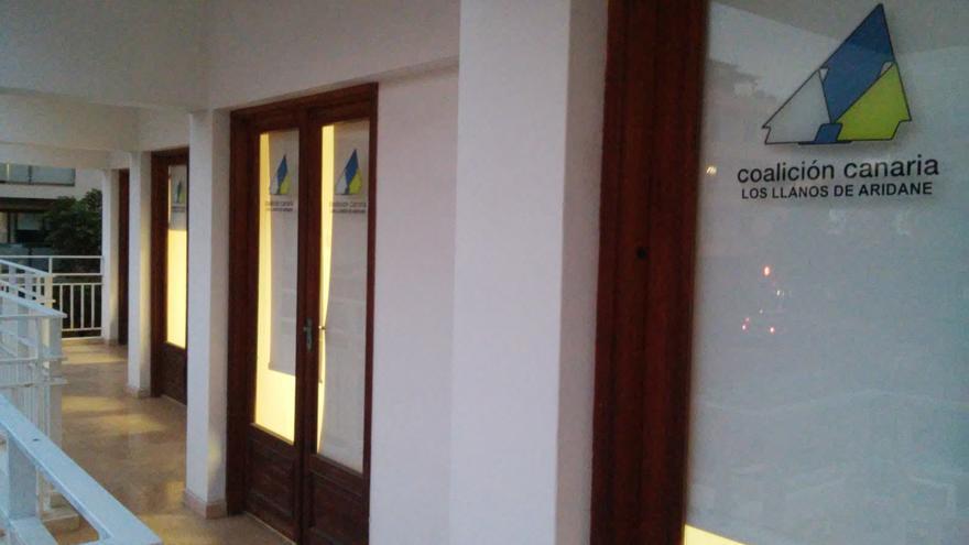 Sede de Coalición Canaria (CC) en Los Llanos de Aridane.