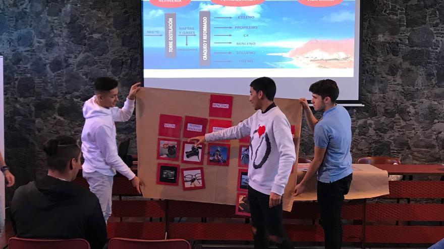 Alumnos que han participado en la actividad formativa de la Fundación Cepsa