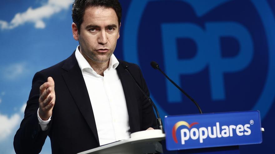 """García Egea pide al PSOE que se """"abstenga de presionar"""" al PP porque no va a """"regalar  la investidura"""" a Sánchez"""