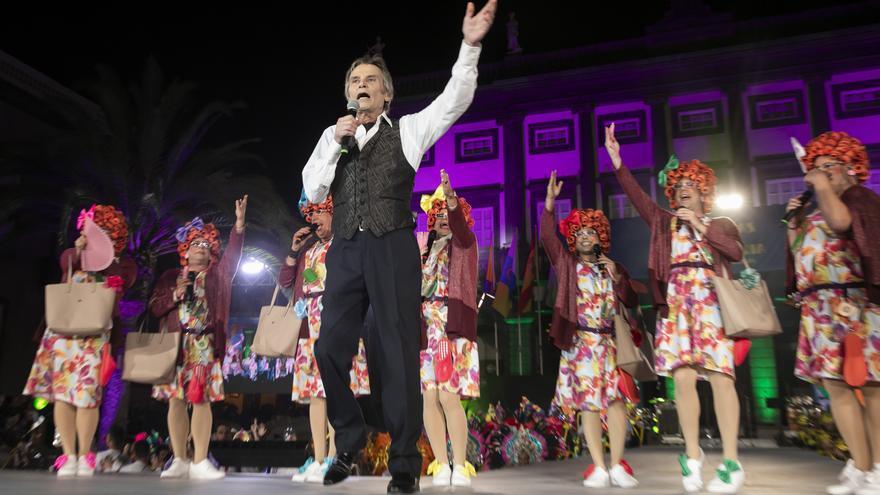 Manolo Vieira en el pregón del Carnaval de Las Palmas de Gran Canaria,