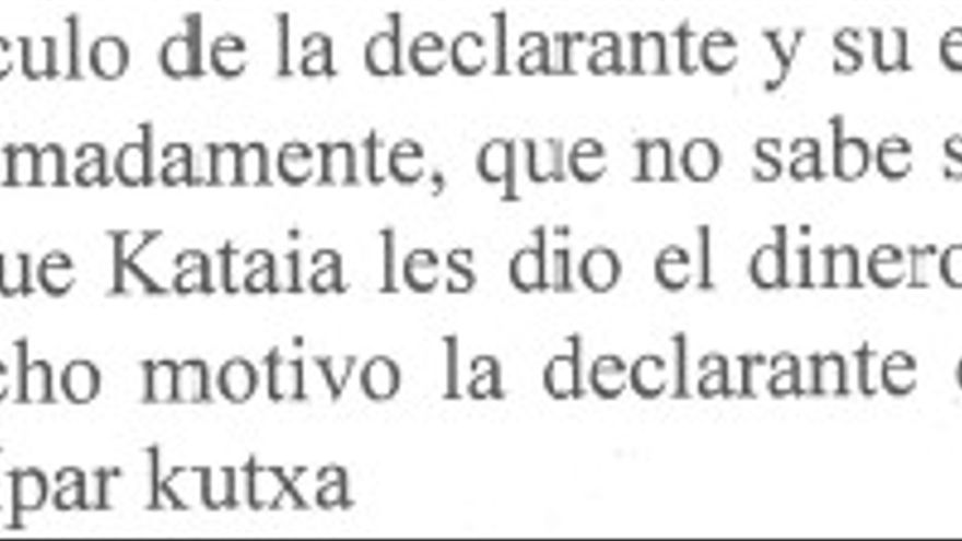Declaración judicial de la esposa de Alfredo de Miguel