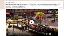 Bulo sobre una manifestación musulmana pidiendo ayudas en Fuengirola.