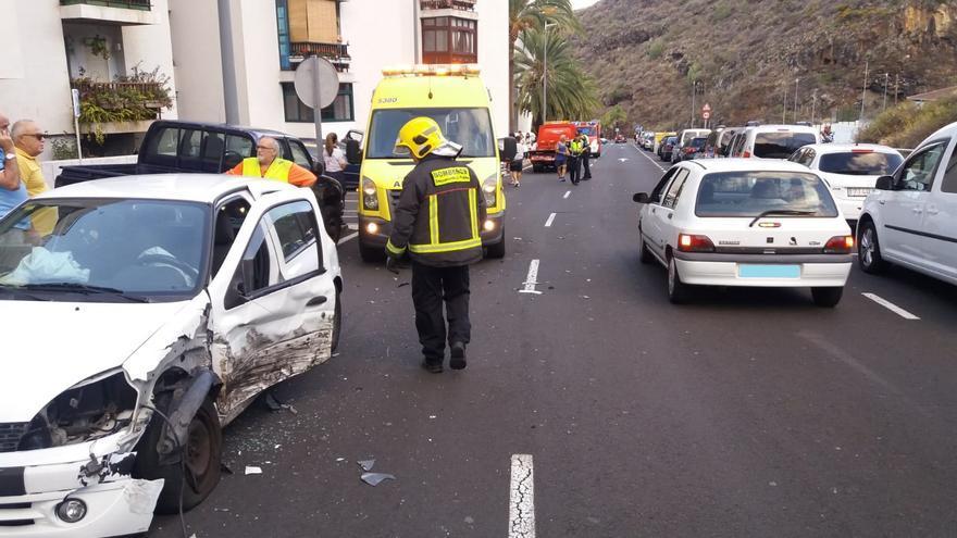 El accidente se registró en la calle Leocricia Pestana.
