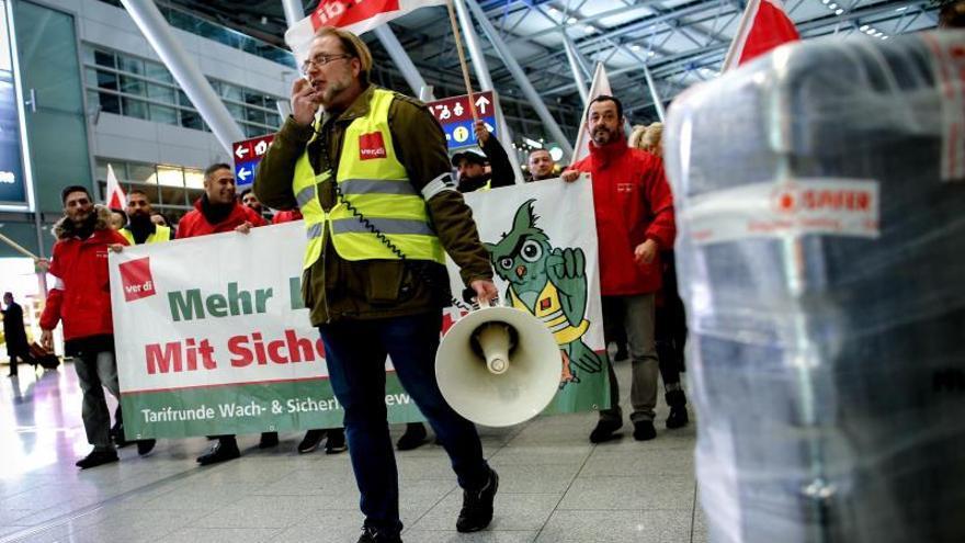 Cientos de vuelos cancelados en Alemania por la huelga en ocho aeropuertos