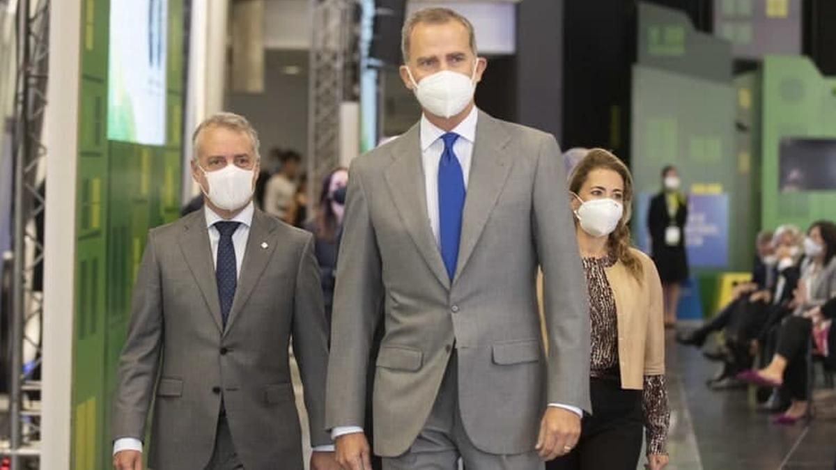 Urkullu, esta semana en Bilbao detrás del jefe del Estado, el rey Felipe VI