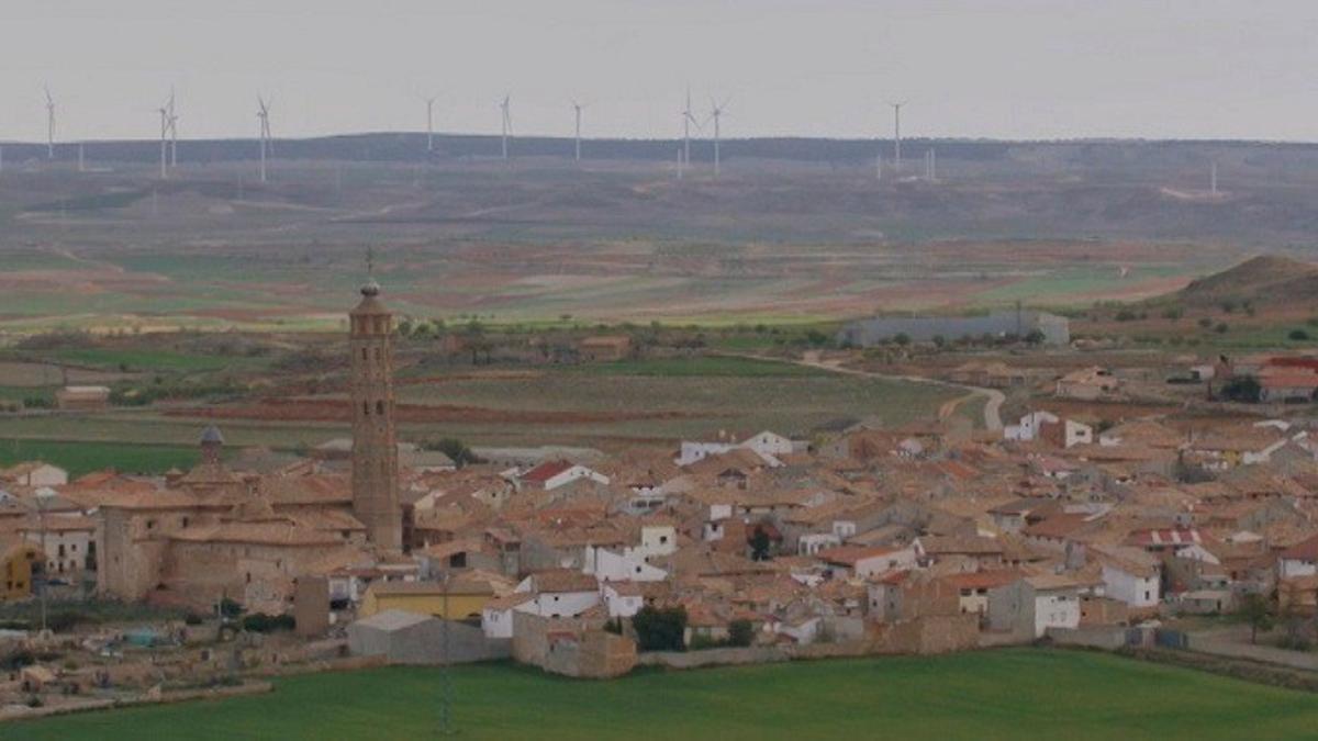 Parque eólico en Muniesa (Teruel)