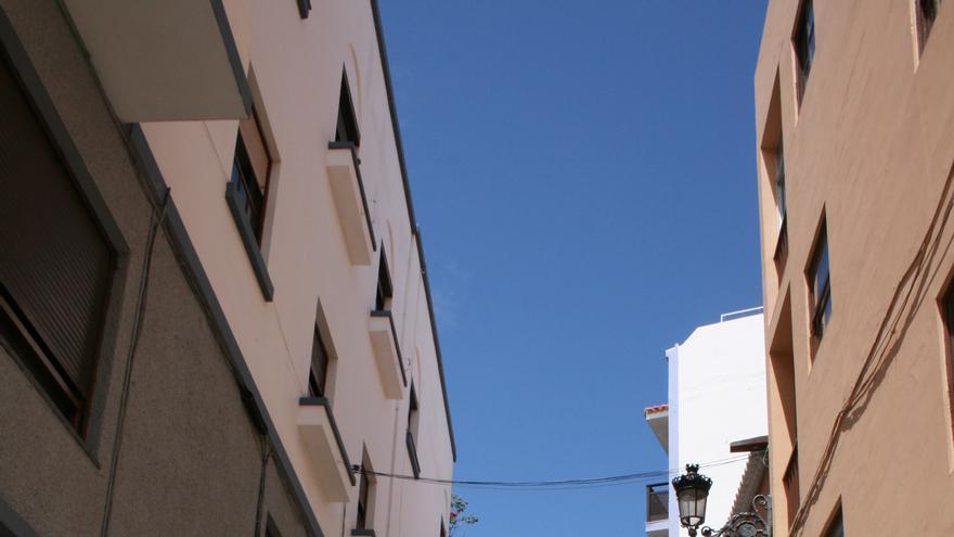 Un tramo de la calle Juan Pérez Álvarez.