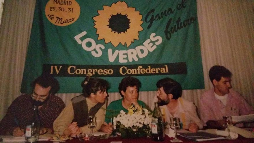 Miembros de Los Verdes reunidos en el IV congreso confederal de la formación, en Madrid.