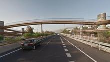 Puente sobre la TF-1, en el sur de Tenerife