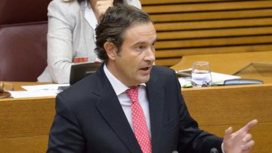 Fernando Pastor, diputado del PP, en las Corts Valencianes.