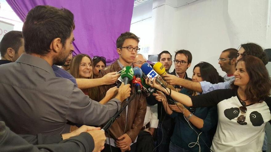 """Errejón asegura que Podemos no va a permitir """"ni por activa ni por pasiva"""" que el PP regrese a la Generalitat valenciana"""