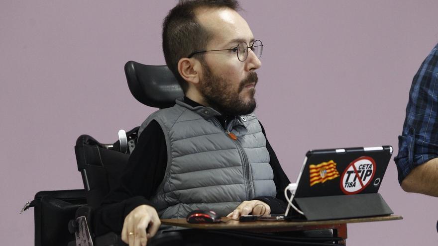 """Echenique cree que los cambios en la dirección o en el Grupo de Podemos """"no tienen que ser ningún drama"""""""