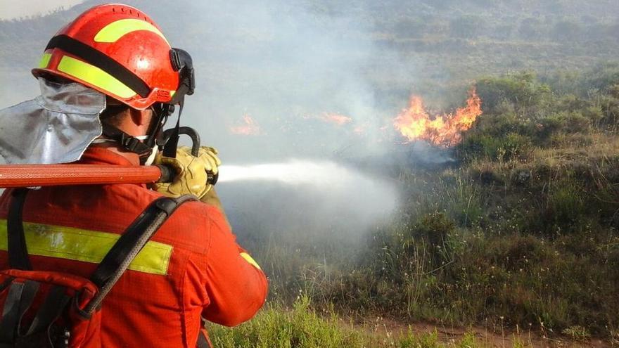Extinción incendio Humanes. Foto: UME | Twitter