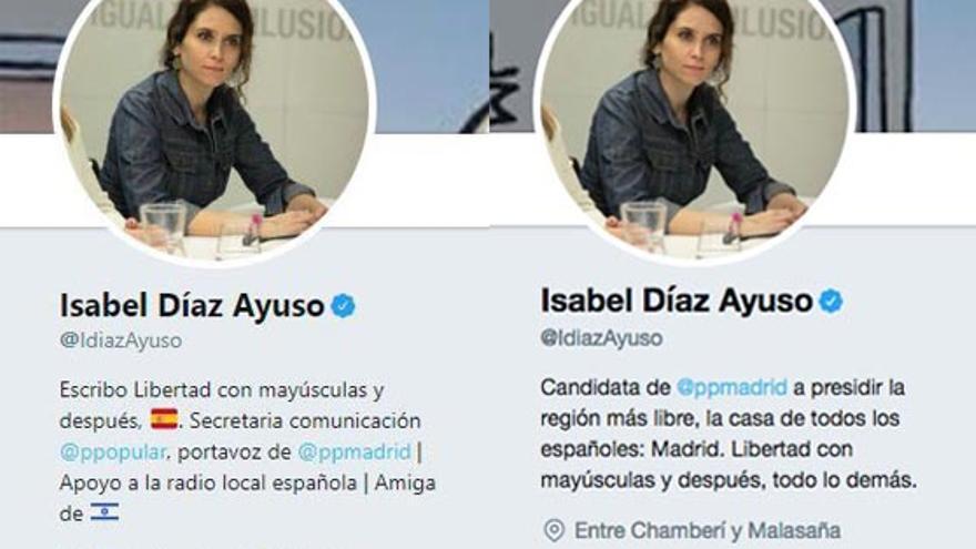 Perfiles de Isabel Díaz Ayuso