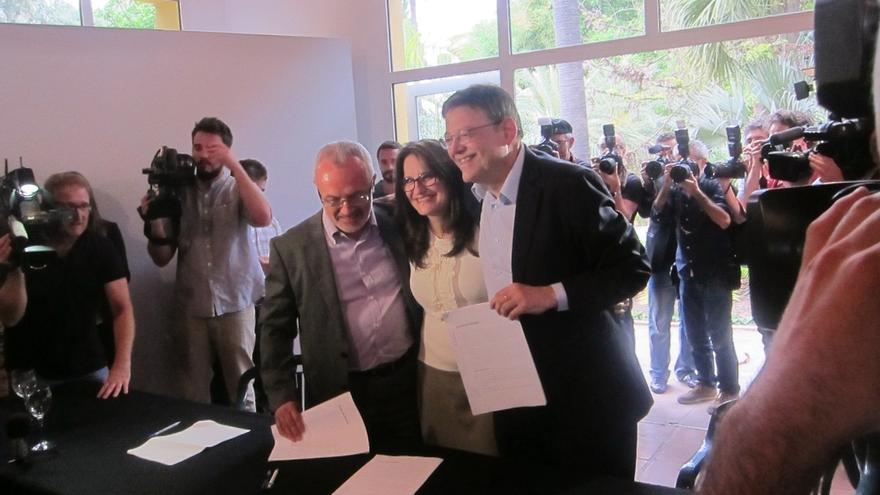 Puig, Oltra y Montiel se reunirán en la primera quincena de abril para revisar el Acord del Botànic