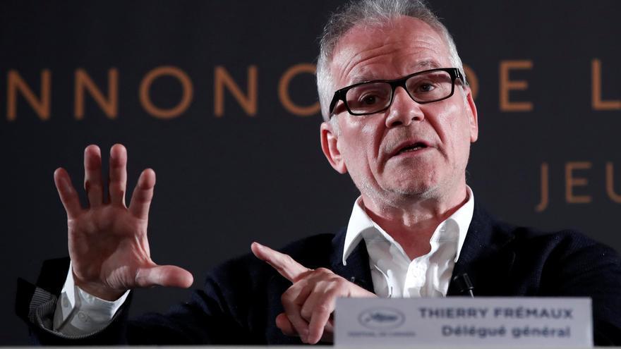 El director artístico del Festival de Cannes, Thierry Fremaux, durante la presentación de la edición 71