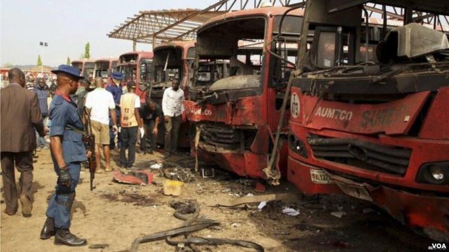 Restos de un atentado de Boko Haram.
