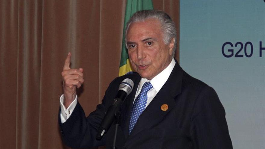 """Temer considera """"productivo"""" su estreno en el G20"""