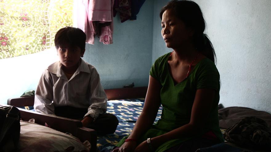 Maya Magar tuvo que dejar su hogar tras el terremoto de Nepal.