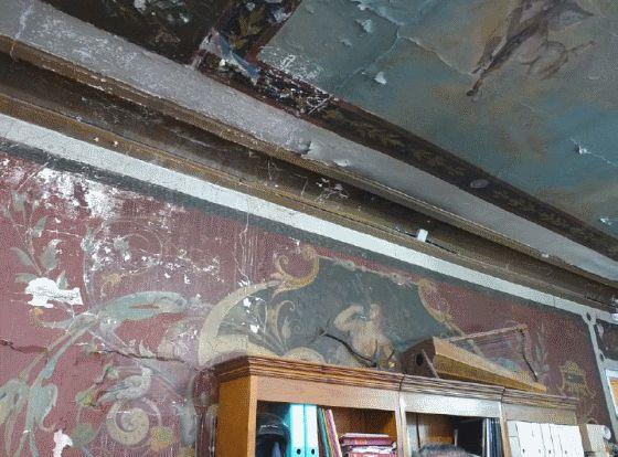 Las humedades empiezan a causar desperfectos en los frescos | http://madridciudadaniaypatrimonio.org/node/617