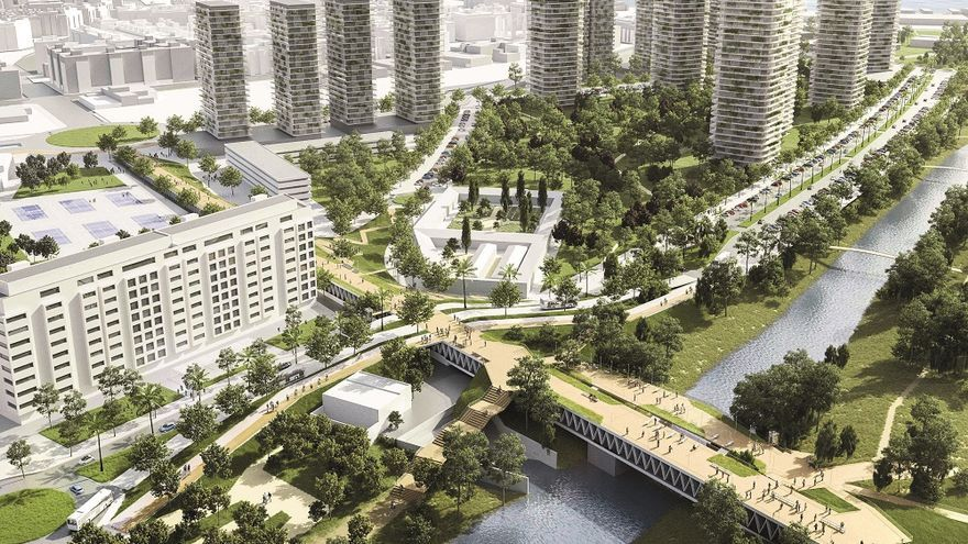 Una proyección de la urbanización prevista para el PAI del Grau
