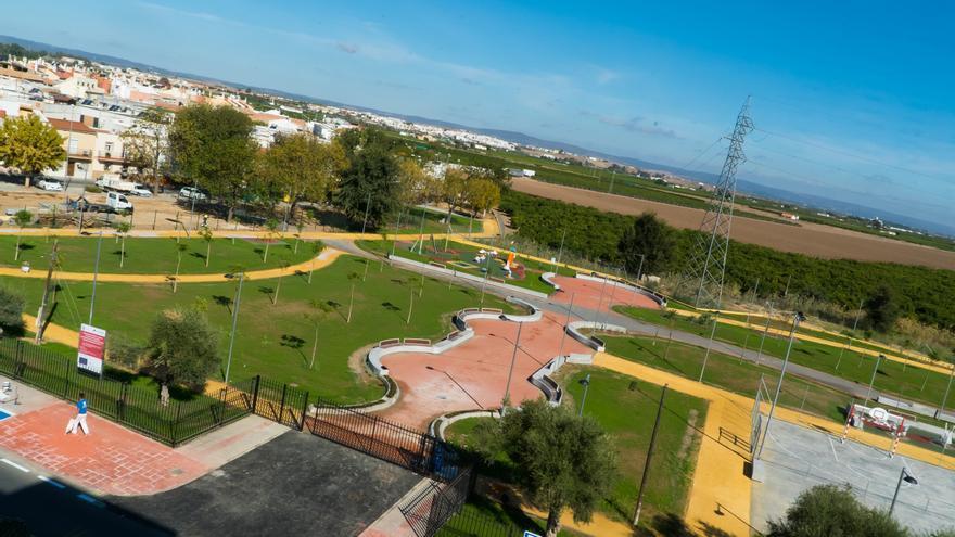El parque de La Caldera, en La Rinconada, cuenta con medidas que propician el ahorro de agua y mejoran la sostenibilidad del entorno